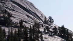 Polly dome yosemite Stock Footage