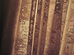 Curtain late evening - stock photo