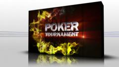 25 poker tournament red cubes Stock Footage