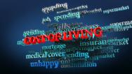 Stock Video Footage of Cost of living related words in cloud.