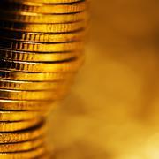 shine of gold - stock photo