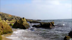 Waves on rocks x264 Stock Footage