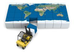 Global transportation Stock Illustration