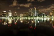 Stock Photo of Downtown West Palm Beach Skyline At Night