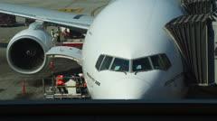 Pre-flight preparations. Stock Footage
