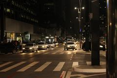 Intersection at Paulista Avenue - stock photo