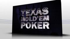 31 texas holdem blue cubes Stock Footage