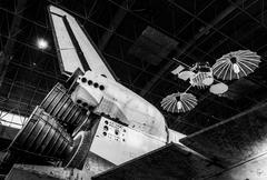 The space shuttle discovery, at the smithsonian air and space museum udvar-ha Stock Photos