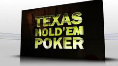 32 texas holdem red cubes Stock Footage