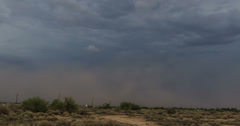 2K 30p tight - Haboob arrives south of Phoenix with a punch time lapse Stock Footage