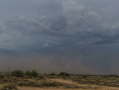 2K 24p tight - Haboob arrives south of Phoenix with a punch time lapse Stock Footage