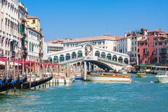 Venice - rialto bridge and canale grande Stock Photos