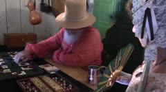 Old western Gambling dealer Stock Footage