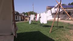 Sutters Fort reenactment Stock Footage