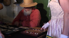 Old west gambler, dealer Stock Footage