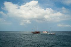 the atmosphere at andaman sea - stock photo