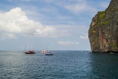 phi phi island - stock photo