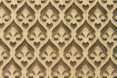 Moorish floral wall decoration, spain Stock Photos