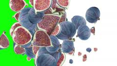 Falling Figs (with alpha channel) Stock Footage