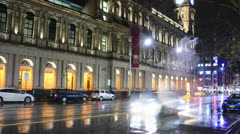 Melbourne street at night - stock footage