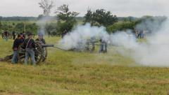 Gettysburg Union Army Cannons Firing Stock Footage