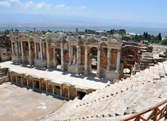 Hierapolis amphitheater Stock Photos