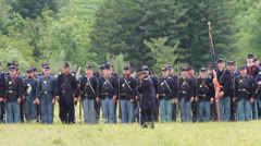 American Civil War Union Soldiers in formation Stock Footage