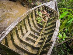 A erode wooden ship Stock Photos