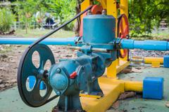 exercise bike water pump - stock photo