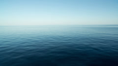 Peaceful and calm sea and sky Stock Footage