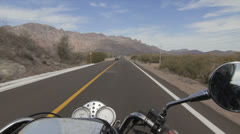 A motorcycle adventure on the road Stock Footage