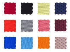 samples of textiles - stock photo