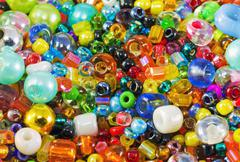 Colored beads Stock Photos