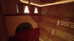 Luxury sauna in hotel five stars - stock footage