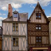 Timbered houses, angers, france Stock Photos