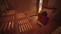 Luxury sauna of hotel five stars Stock Footage