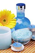 Products for the spa and aromatherapy Stock Photos