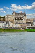 amboise castle over river, france - stock photo