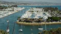 Dana Point in Orange County, CA Stock Footage