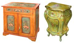 Wooden cabinets Stock Photos