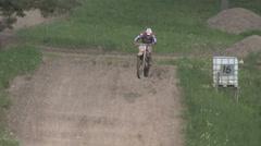 Motocross race - stock footage