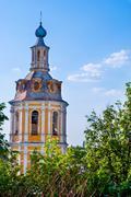 bell tower of saint andrew monastery - stock photo