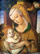 Madonna & Child  Carlo Crivelli 1435-95 - stock illustration