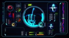 Sci-fi computer interface - stock footage
