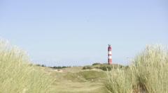 Lighthouse Amrum Germany - North sea - stock footage