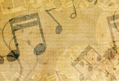 grunge music background design - stock illustration