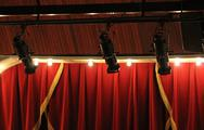 Stock Photo of Theater lights with curtain