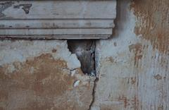 Cracked wall - stock photo