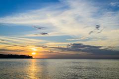 west coast of phuket in the evening - stock photo