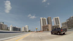 Hallandale Beach Boulevard Stock Footage